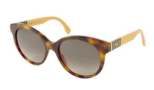 FENDI Gafas de sol, Marrón (Brown), 53.0 para Mujer