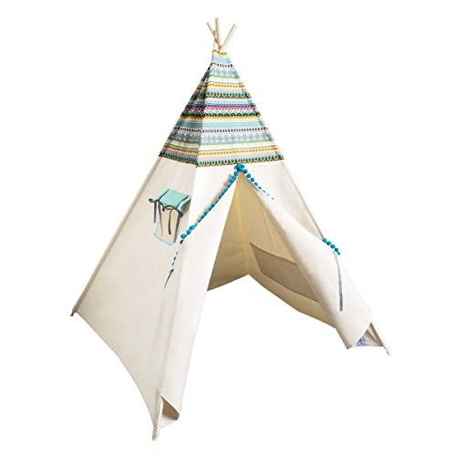 cozydots Indianer Spielzelt Tipi Zelt für Kinder Spielzelt im Alter von 0-7 Jahren, 150 cm hoch, für Jungen, Indianer Abenteuerzelt (Indian)