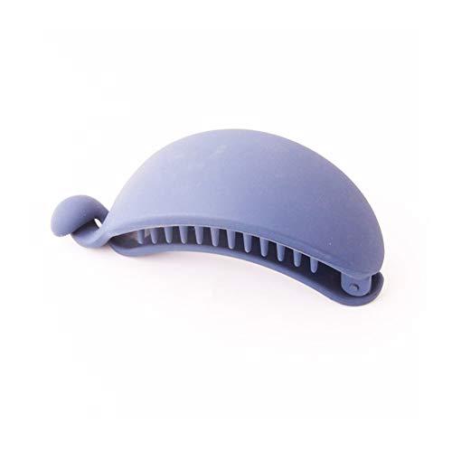 Moonlight Star Couvre-Chef Solide Hairpins Caoutchouc Couleur Banane Pince à Cheveux Clips Femmes Ponytail Couvre-Chef Accessoires (Color : Blue)