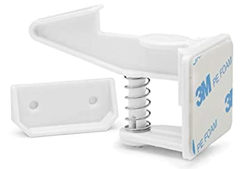 Cabinet Locks Child Safety 12 Pack   Baby safety cabinet locks with screws   Baby proof drawer lock   Child proofing cabinets latches for kids Latch for drawers & door Non Magnetic child safety locks