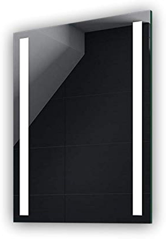 FORAM 50 x 70 cm Batterien Versorgt Design Badspiegel mit LED Beleuchtung von Artforma  Wandspiegel Badezimmerspiegel Spiegel nach Ma