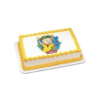 Terrific Amazon Com Caillou Edible Image Cake Topper Toys Games Funny Birthday Cards Online Elaedamsfinfo