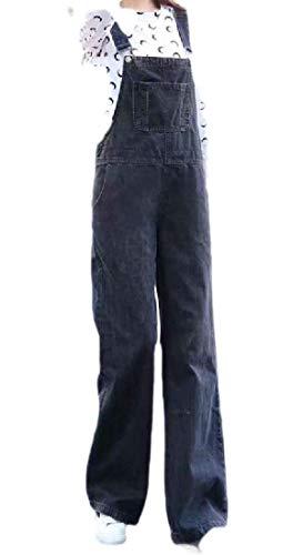 H&E Damen Straight-Leg Jeans Playsuit Overall Overall Overall Gr. M, Schwarz