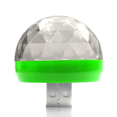 Luces de Discoteca Luces de Fiesta USB Mini Bola de Cristal USB Portátil Luz de Discoteca Led Lámpara de Escenario de Control de Sonido de Efecto Colorido Luz de Ambiente de Coche
