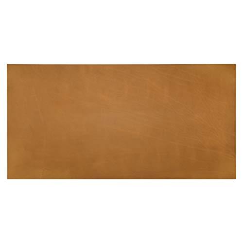 TonLC Werkzeug-Lederblatt, Lederreste, Lederstücke, Bastelleder, Rohleder, Leder, quadratisch, 142 g, 2 mm dick, Crazy Horse Rindsleder-Maserung, Braun, 15,2 x 30,5 cm