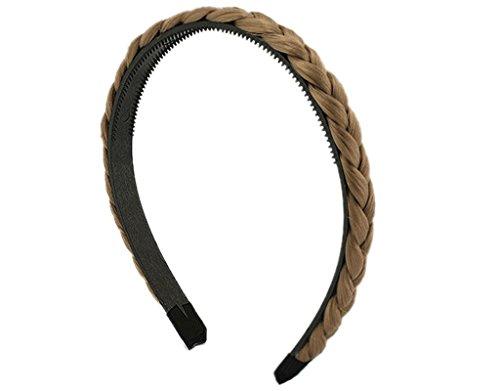 BONAMART Elegant Elastisch Haarband Geflochten Braun Blond Stirnband Perücke Damen 24850