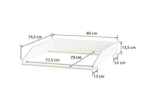 Wickelaufsatz Aufsatz für Ikea Nordli Kommode 47 cm Tiefe (ab 2018) stabiles Holz sichere Wand- u. Kommodenbefestigung abgerundete Ecken Kippschutz Wickelauflagen Breite 77 cm (passgenau) und 80 cm