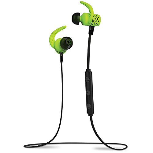 BlueAnt PUMP MINI Green BT4.1 Sweatproof/Wireless Sports/Fitness Bluetooth Earbuds w/mic iPhone6+,6,Apple Watch,Android,6hrs