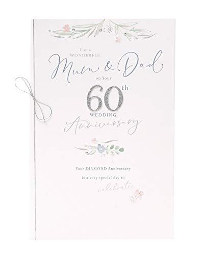 moeder en vader 60e verjaardag kaart - 60e verjaardag geschenken - bruiloft verjaardag kaart - moeder en vader verjaardag geschenken - verjaardag kaart - 60 jaar verjaardag kaart