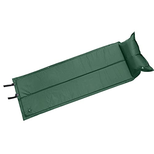 SONG Camping Sleeping Pad Aufblasbare Luftmatratze Außenmatte Faltenmöbel Bett Ultraleicht Kissen Kissen Wandern Stranddecke (Color : Army Green)