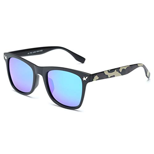 Gafas De Sol Nuevas Lentes Polarizadas Tendencia De Moda Camuflaje Salvaje Patas De Espejo Marco Grande ProteccióN UV Modelos HD para Hombres Y Mujeres.