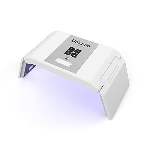 Delanie Lampe UV Sèche Ongles, 36W UV LED Séchoir à Ongles Professionnel Automatique, USB Pliable Portable