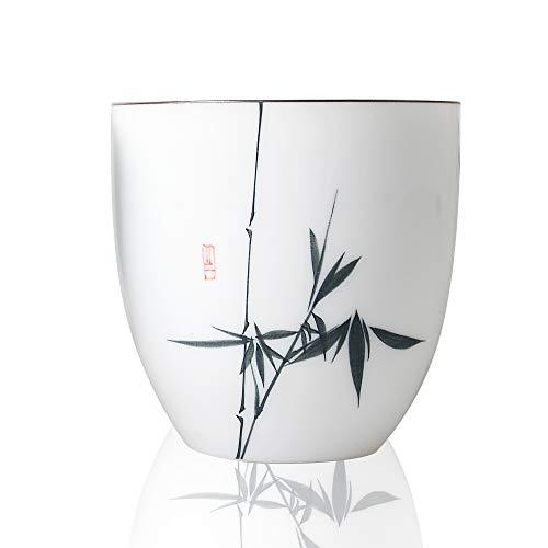 HwaGui Tasse À Thé En Porcelaine Blanche Chine En Céramique À La Main Poterie Tasse Peinte À La Main Pour Le Thé, 100ml