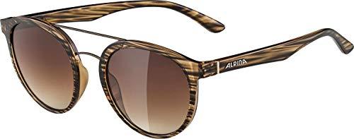ALPINA CARUMA II Sportbrille, Unisex– Erwachsene, brown-black transparent, one size