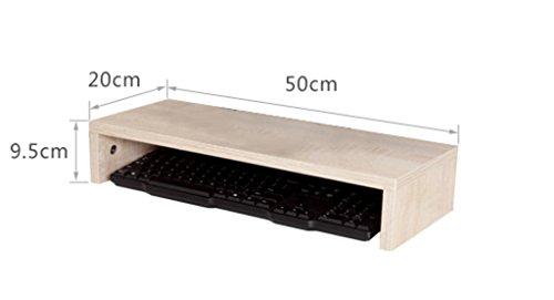GLF TV-Regal, Computer-Monitor Erhöhte Regal Stent Halterung Tastatur Regal Desktop Incorporated (Color : Natural, Size : 60 * 20 * 16cm)