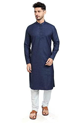 STYLEXA Men's Solid Straight Kurta Pyjama Set Cotton