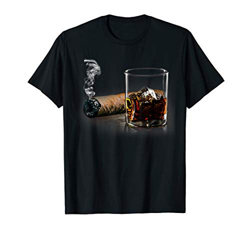 Cigar and Bourbon T-shirt Great Gift for Cigar Lounge Lovers T-Shirt