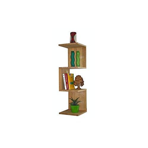Isfort Holzhandels GmbH Stabiles Eckregal aus Massivholz Buche, Zickzackregal, 26x26x86cm, dekorativ, praktisch, gut, echtes Holz