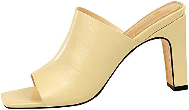 MENGLTX High Heels Sandalen 2019 Neueste Frauen Sandalen Offene Spitze Sommer Schuhe Platz High Heels Party Hochzeit Schuhe Frauen Slipper Groe Gre 40