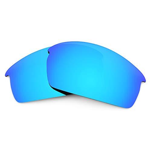 Revant Verres de Rechange Compatibles avec Oakley Bottlecap, Polarisés, Bleu Glacier MirrorShield