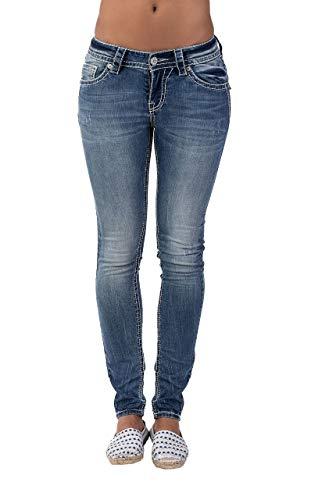 Blue Monkey Women Romy 3906 Blue Denim Skinny Jeans Women Hose Blau