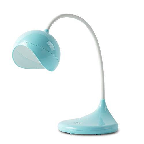 Liangsujian td Lámpara de mesa, cuello de cisne, lámpara de mesilla táctil, lámpara de mesa atractiva, lámpara de oficina regulable con puerto de carga USB, lámpara de noche y de noche