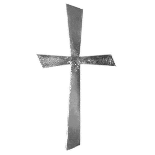 Rayher 31502000 Wachs-Motiv Kreuz Silber, 10,5x5,5cm, SB-Btl 1Stück