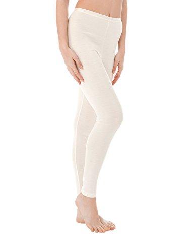 CALIDA True Confidence Damen Leggings Pantaloni Termici, Bianco (Cream White 892), XS Donna