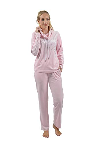 RAIKOU Damen Hausanzug Freizeitanzug Fitnessanzug Trainingsanzug Jogginganzug Schlafanzug(36/38, Rosa)