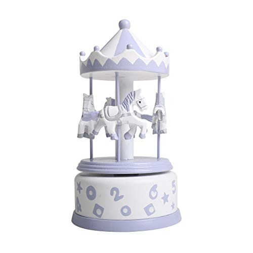 Carillon Classico Carillon Rotante, Carillon Intagliato a Mano, Regalo Perfetto for Bambini, Ragazze, Amici Scatole Musicali (Color : Purple)