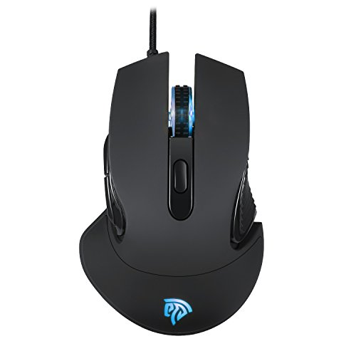 Gaming Mouse【High Precise Control & 5 Programmable Buttons】 EasySMX Professional Wired Gaming Mice, Ergonomic PC Computer Laptop Mouse with 5 DPI Adjustable Level, 16 Million LED Color Definition
