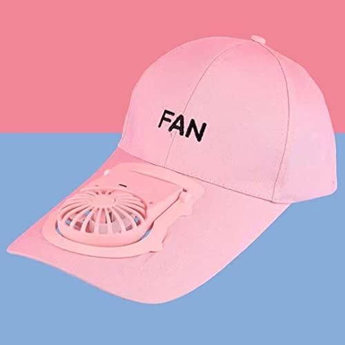 Gorra de ventilador portátil: gorra de béisbol, visera, gorra publicitaria, gorra de sombrero de energía solar solar al aire libre de verano, ventilador de refrigeración para golf, béisbol, deporte