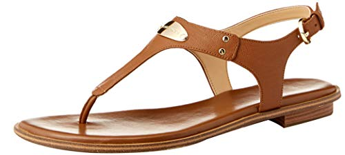 Michael Kors MK Plate Sandals, Tan Brown Size: 6 UK