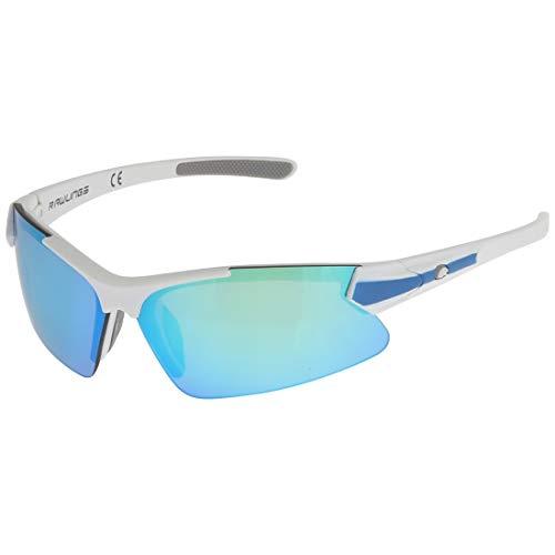 Rawlings Sport Baseball Sunglasses - Lightweight, Stylish Sunglasses, White/Blue