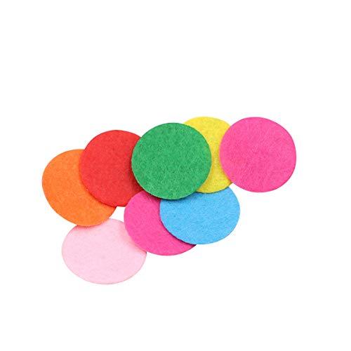 SUPVOX Filzstoff Pad Runde Filzpad Farbig Bastelfilz Filzplatten Konfetti Kinder DIY Blume Handwerk Stoffe 2.5cm 100 Stück (Mischfarbe)
