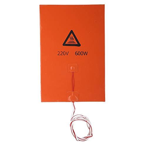 Tangxi Cojín de calefacción de Alta Temperatura 12V 220V Accesorios de la Impresora 3D Cama Caliente de Silicona 120W 200W 600W 750W (Naranja 220v 200w)