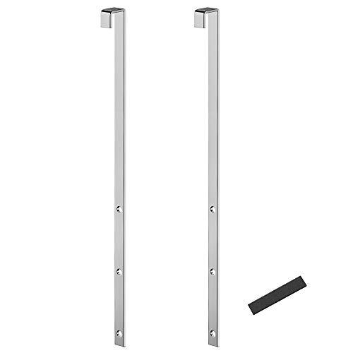 SONGCMIS Türhaken, für Schmuckschrank, 2er Set, aus Stahl, geeignet für deutsche Türen, 1,2 x 2,2 x 32 cm (L x B x H), silbern JJC901E01