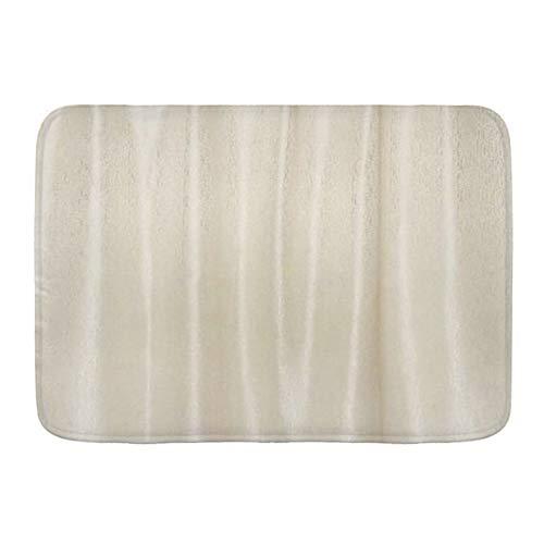 FOURFOOL Alfombrilla de Baño de Microfibra,Crema de bambú,Alfombra Baño Absorbente y Antideslizante Suave Alfombra de Ducha Lavable a Máquina 45x75cm