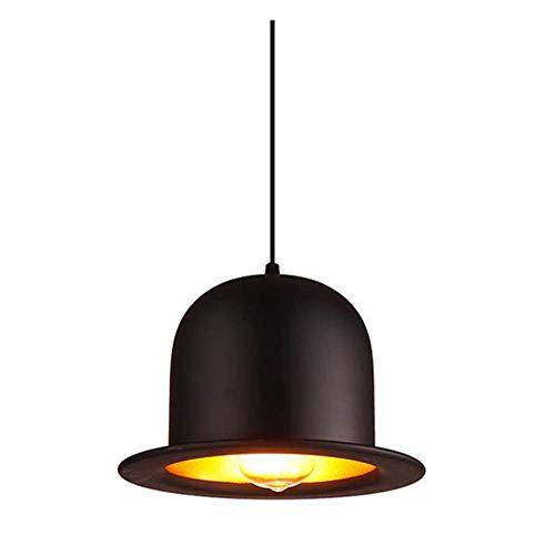 Lámpara colgante industrial simple lámpara colgante moderna sombrero de bolero tela de aluminio pantallas 1 luces Edison E27 bombilla para dormitorio pasillo tiendas bares (no bombillas)