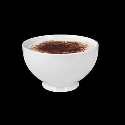 Holst Porzellan SH 2108 FA5 French Coffee Bowl 0,45 l, weiß, 12.5 x 12.5 x 7.5 cm, 6 Einheiten