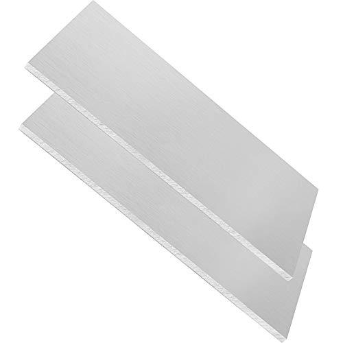 ZOENHOU 2 PCS 6061 Aluminum Sheet, Premium 6 x 12 x 1/4 Inch Thickness Metal Plate Rectangle with Bright Surface Precision Aluminum Alloy Film Heat Treatable Durable