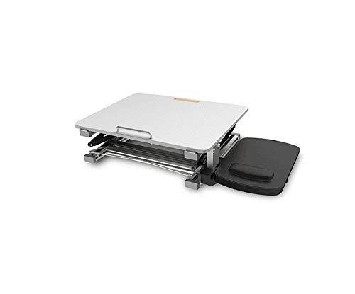 WTT klaptafel tuintafel eettafel standaard voor laptop van aluminium, verstelbaar, antislip, voor laptop met muisplatform voor kantoor (kleur: wit)