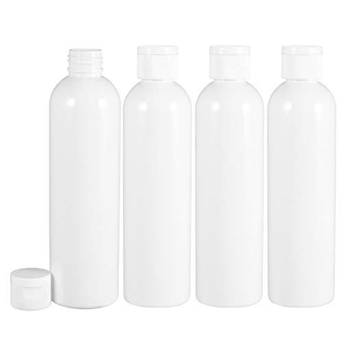 Minkissy - 4 botellas de cosméticos de plástico con cierre de tapa, rellenables, 500 ml, champú, gel de ducha, loción para cosméticos