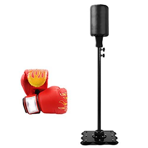 Juego De Sacos De Boxeo para Adultos, Soporte Ajustable Saco De Bolas De Boxeo Speed Boxing Sports Set Juego De Lucha Juguetes Regalos con Guantes De Boxeo,Negro