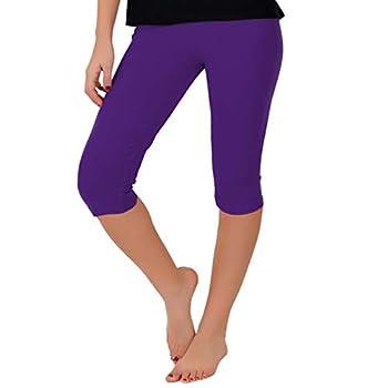 Stretch is Comfort Women s Knee-Length Leggings Purple 2X