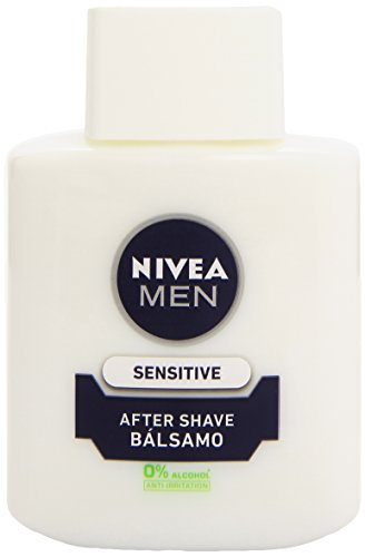 NIVEA MEN Sensitive Bálsamo After Shave (1 x 100 ml), para el cuidado de la piel sensible, bálsamo anti irritaciones con 0% alcohol para calmar la piel al instante