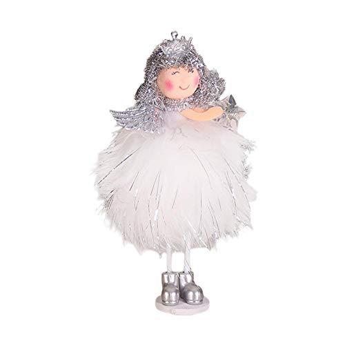 Brownrolly ornamenten zilver zijde pluche staande houder pop kast hangende versieringen raamdecoratie sneeuwpop