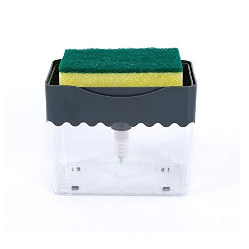 SHANGYANG Soap Dispenser & Sponge for Kitchen, Soap Press Instant Refill, Counter Top Sink Dispenser, Sponge Holder for Kitchen Sink Dish Washing, (5.3' 4.3') Durable & Rustproof