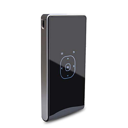 Proiettore Proiettore DLP100W Mini Android 4.4 60 Ansi lumins 1080P Quad-core DLP Pico Projector, supporto WiFi/Bluetooth/HDMI/USB/TF/Miracast/Airplay (nero) (Color : Black)