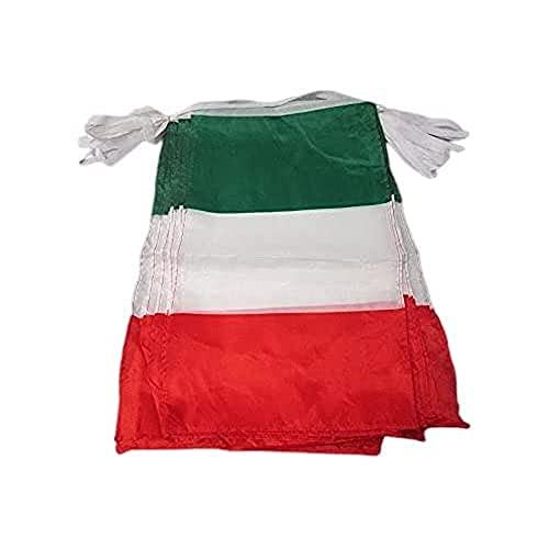 AZ FLAG Ghirlanda 12 Metri 20 Bandiere Italia 45x30cm - Bandiera Italiana 30 x 45 cm - Festone BANDIERINE